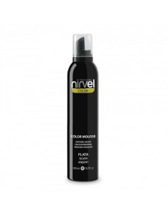 Nirvel espuma de color plata 300 ml