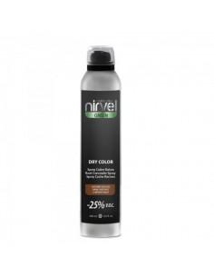 Nirvel spray dry color cubre canas castaño oscuro 300 ml