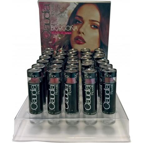 Expositor Barra de labios Borgoña Claudia Rovelli