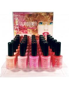 Expositor esmaltes de uñas summer Claudia Rovelli