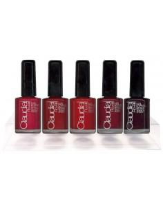 Expositor esmaltes de uñas rojos Claudia Rovelli