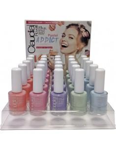 Expositor esmaltes de uñas pastel addict Claudia Rovelli