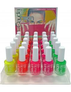 Expositor esmaltes de uñas Neón Claudia Rovelli