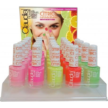 Expositor esmaltes de uñas Citrics Claudia Rovelli