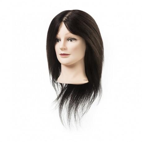 Eurostil Cabeza maniqui de cabello natural