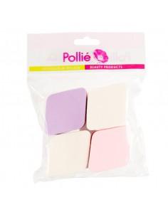 Pollié 4 esponjas maquillaje